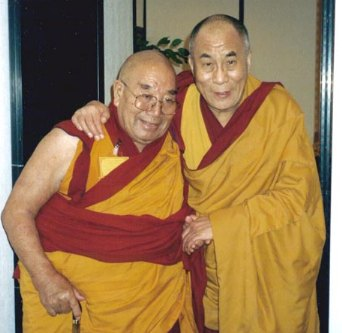 With the Dalai Lama in Milano, 1999